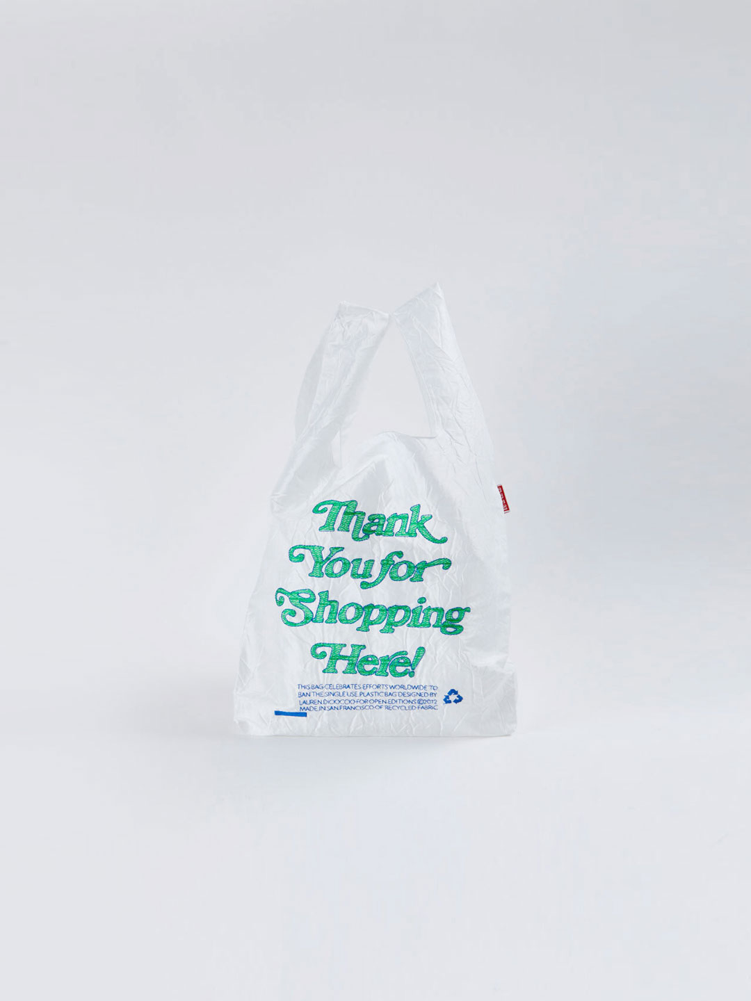 MINI Thank You Tote - Shopping Green x Navy on White Fabric【LIMITED ITEM】