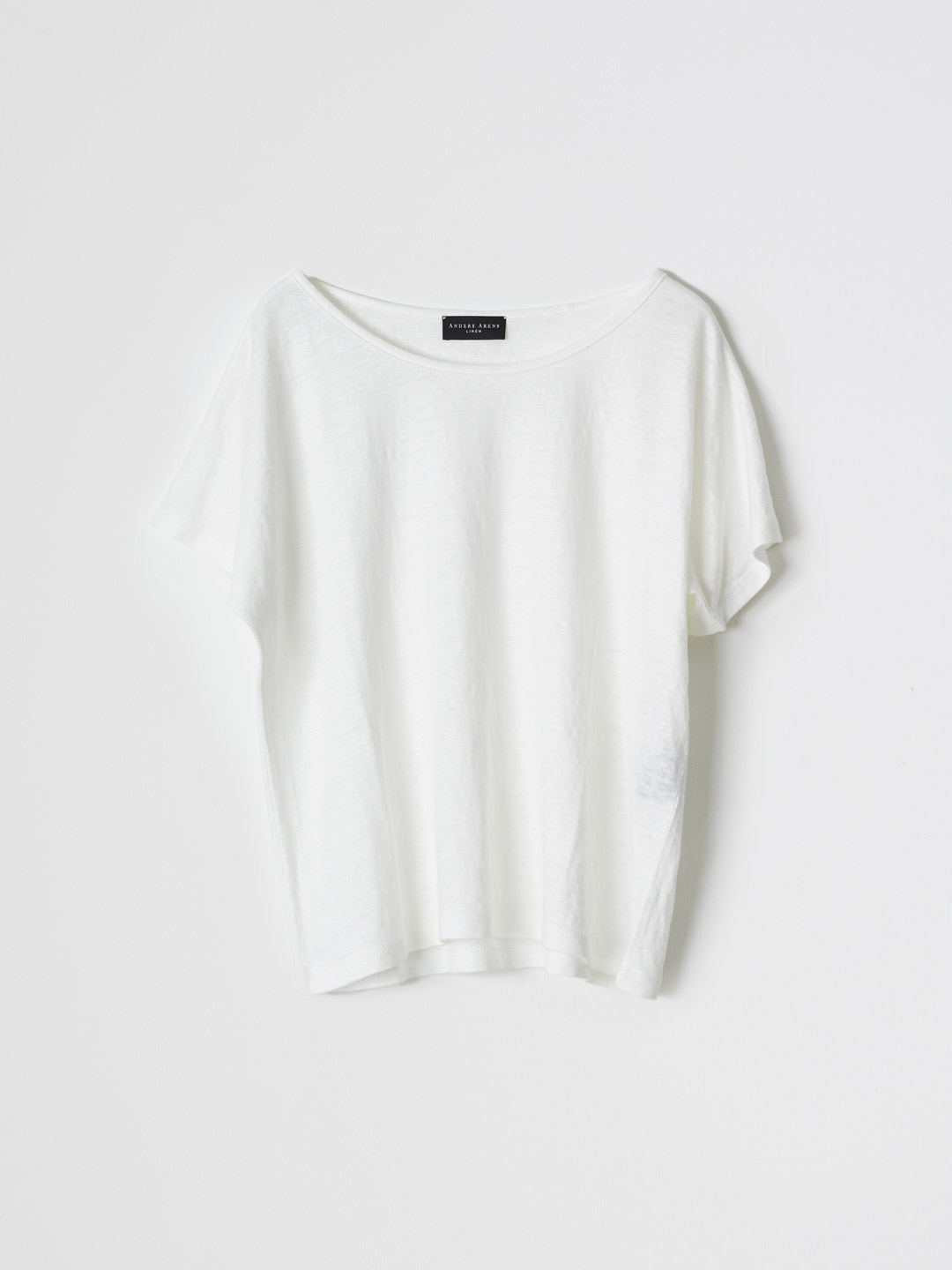 MADRAGUE Short Sleeve Boat Neck T-shirt - White