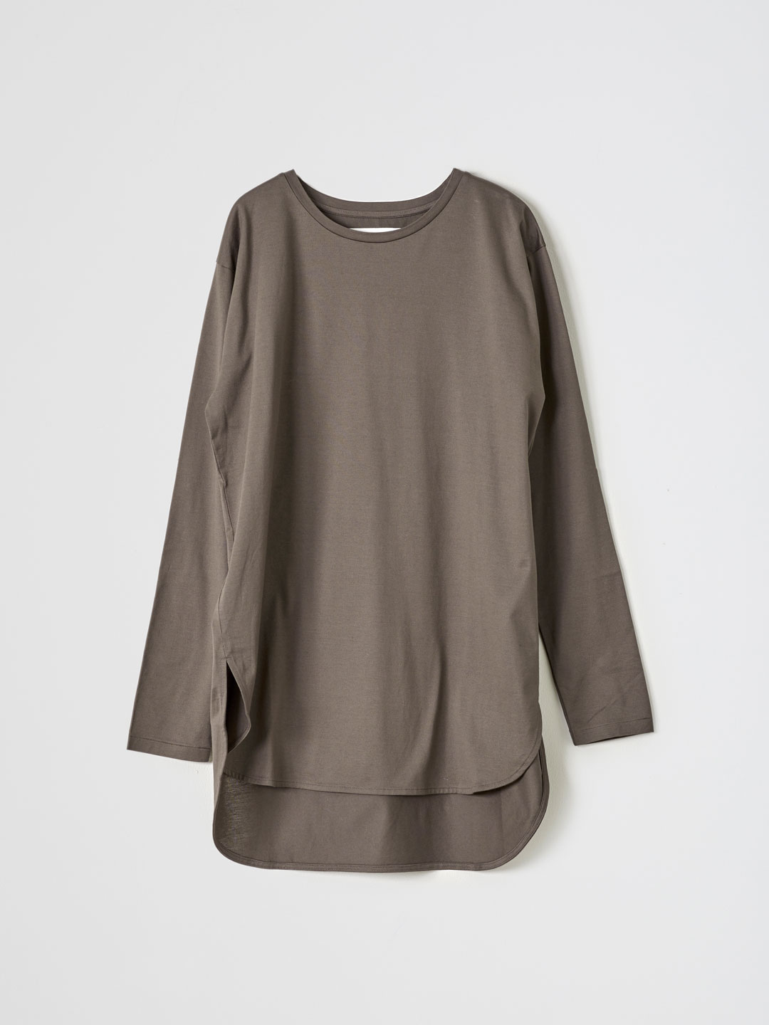 Jersey Longsleeve T-Shirt  - Brown
