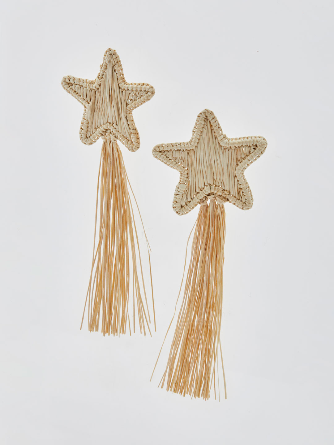 Asteria Shooting Stars Pierced Earrings - Natural