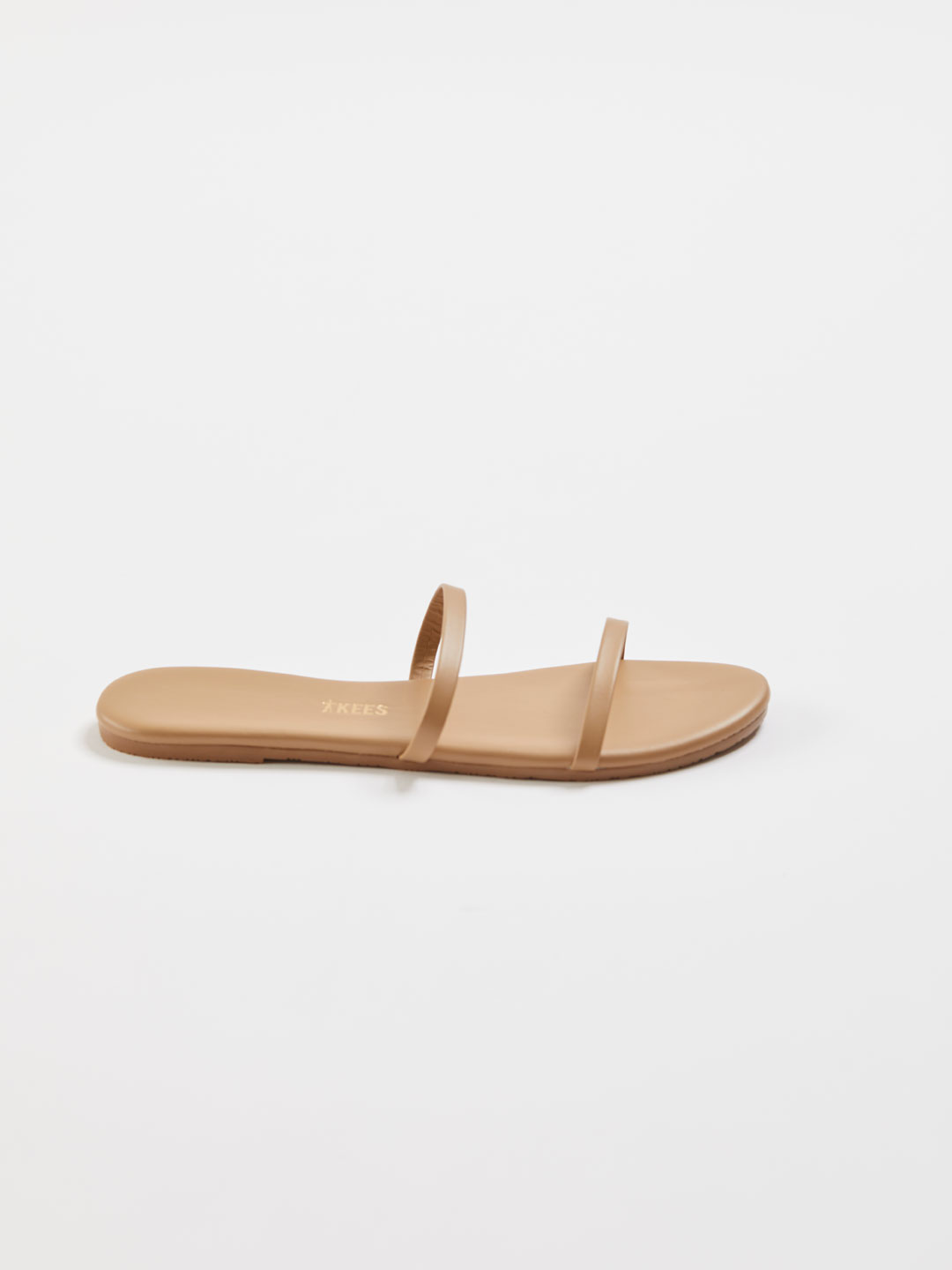 GEMMA Two Strap Flat Sandals - Cocobutter/Beige
