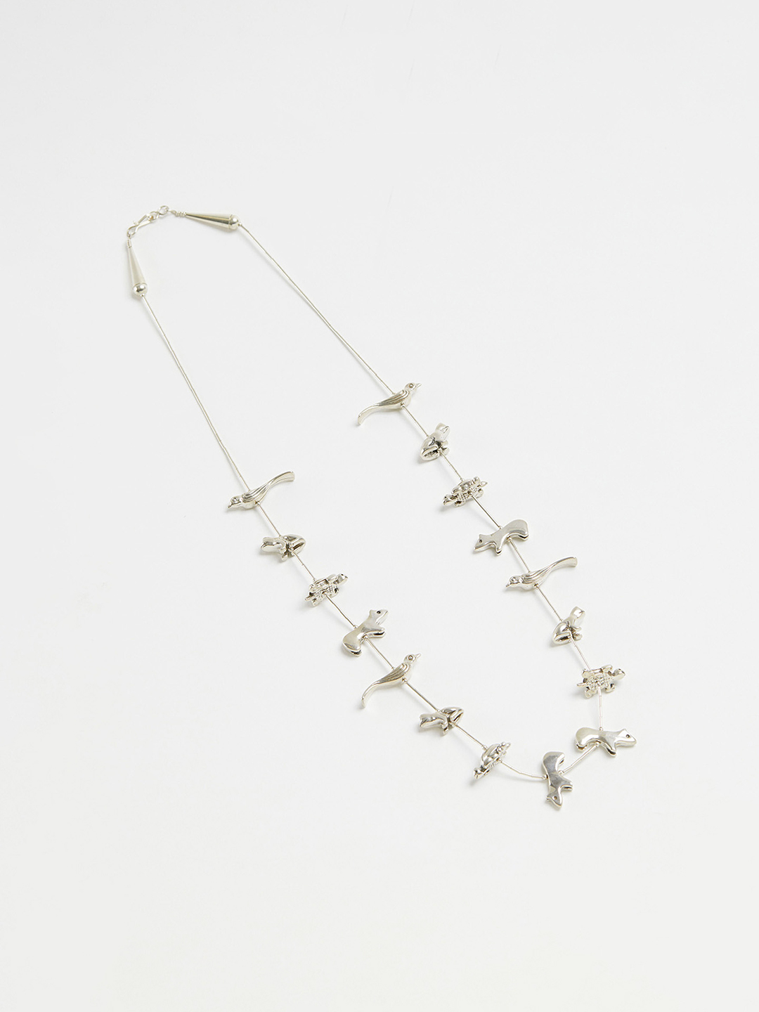 Animal Fetish Necklace - 66cm Silver