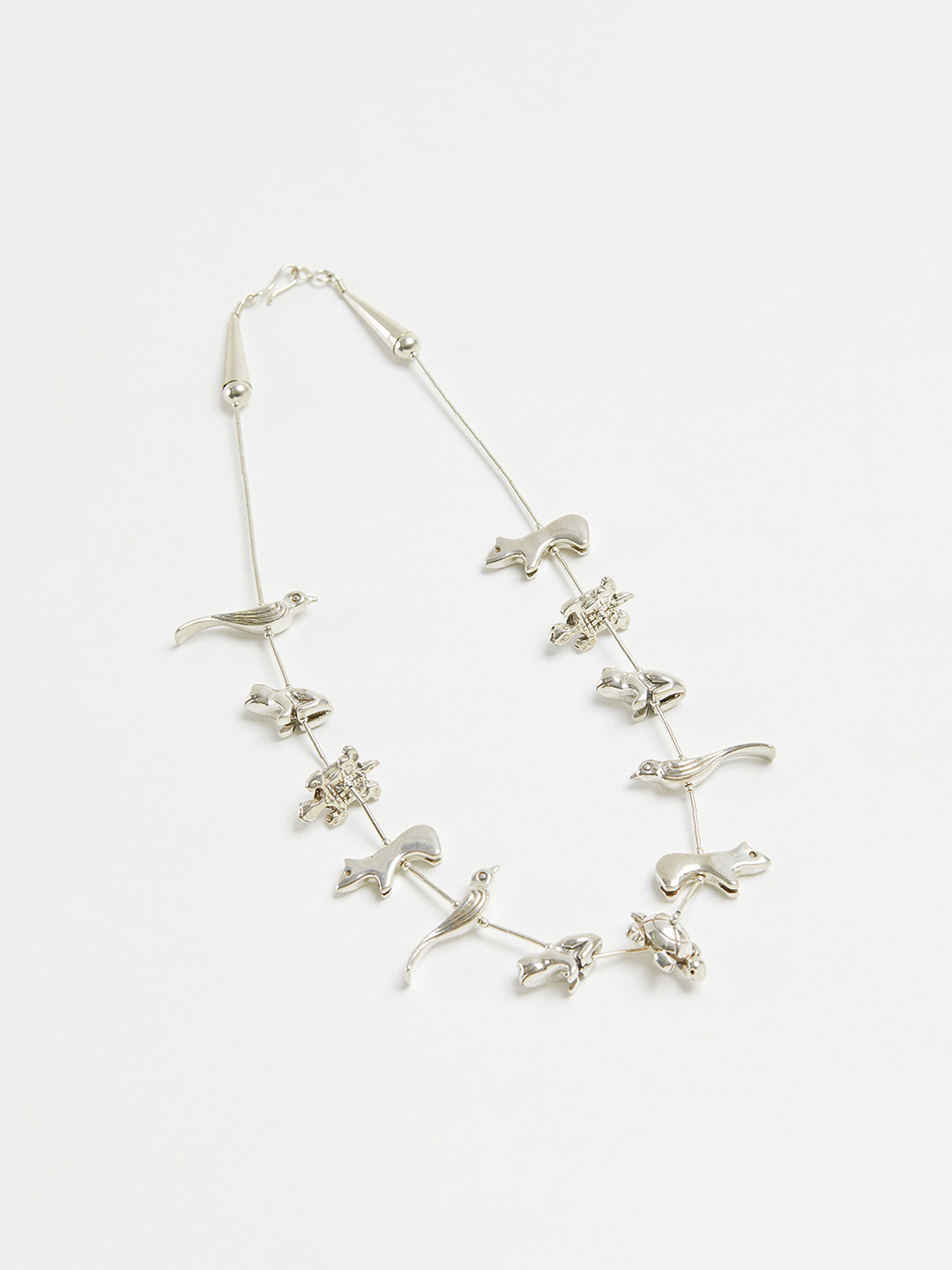 Animal Fetish Necklace - 42cm 12pcs Silver