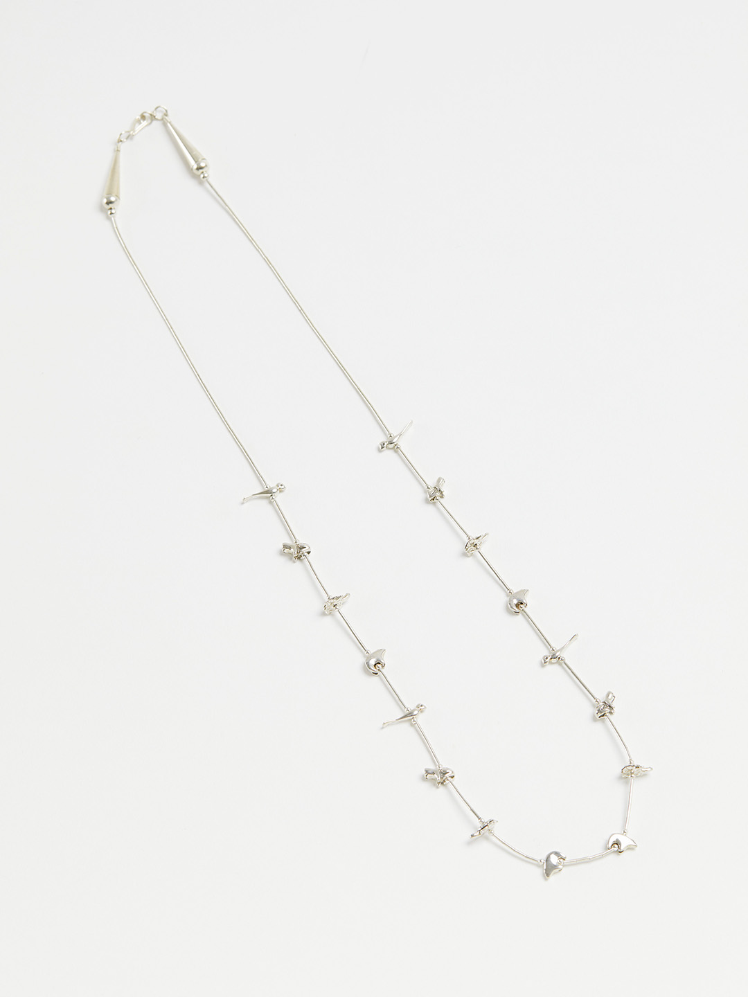 Animal Fetish Necklace - 67cm Silver