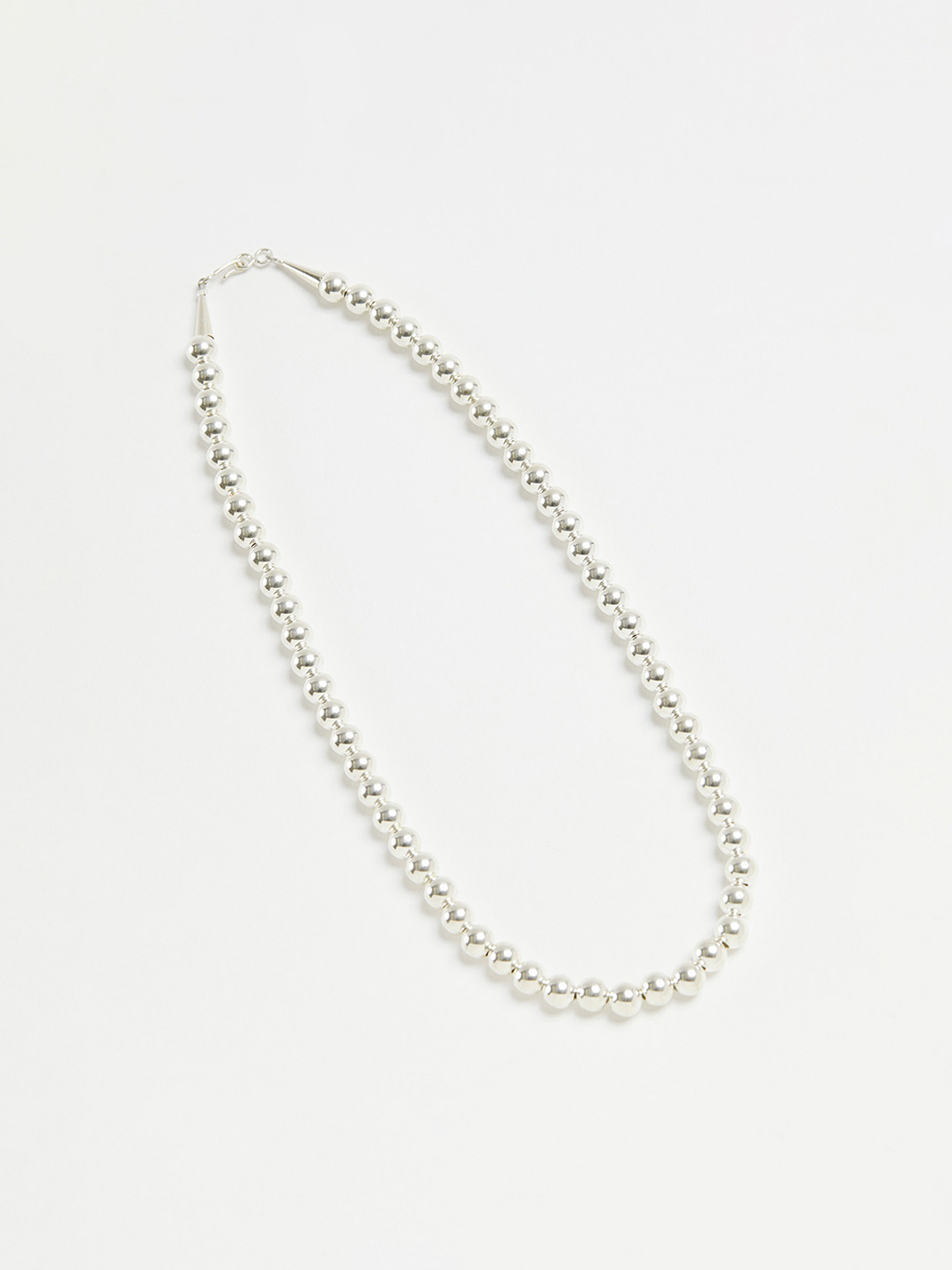 8mm Ball Chain Necklace - 50cm Silver