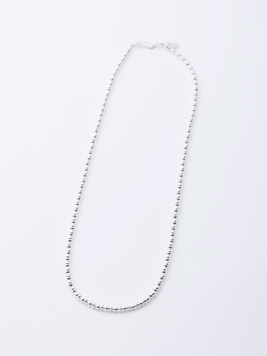 3mm Ball & Disc Chain Necklace 50cm - Silver