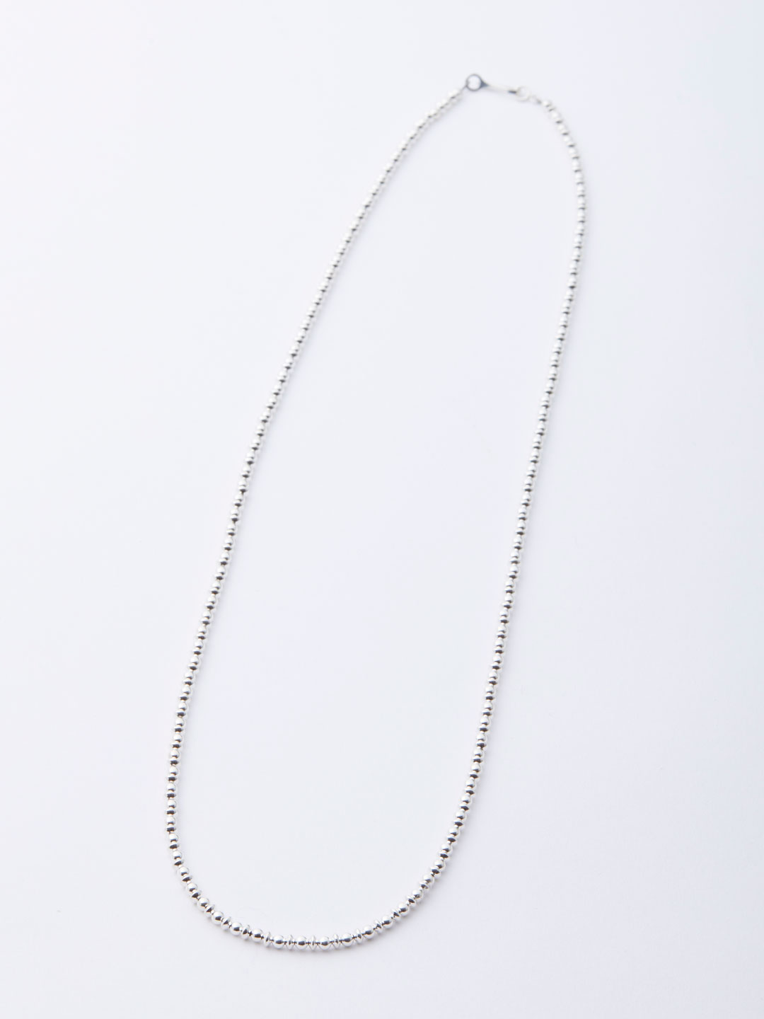 3mm Ball Chain Necklace 63.5cm - Silver