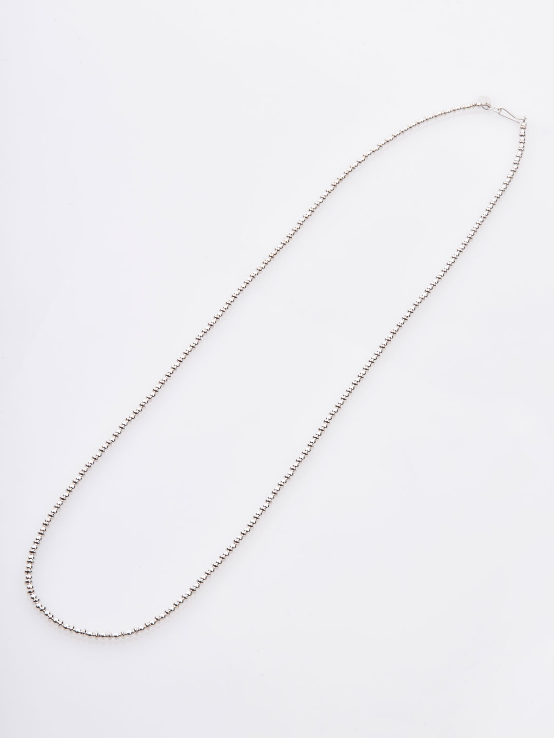 3mm Ball & Disc Chain Necklace 77cm  - Silver