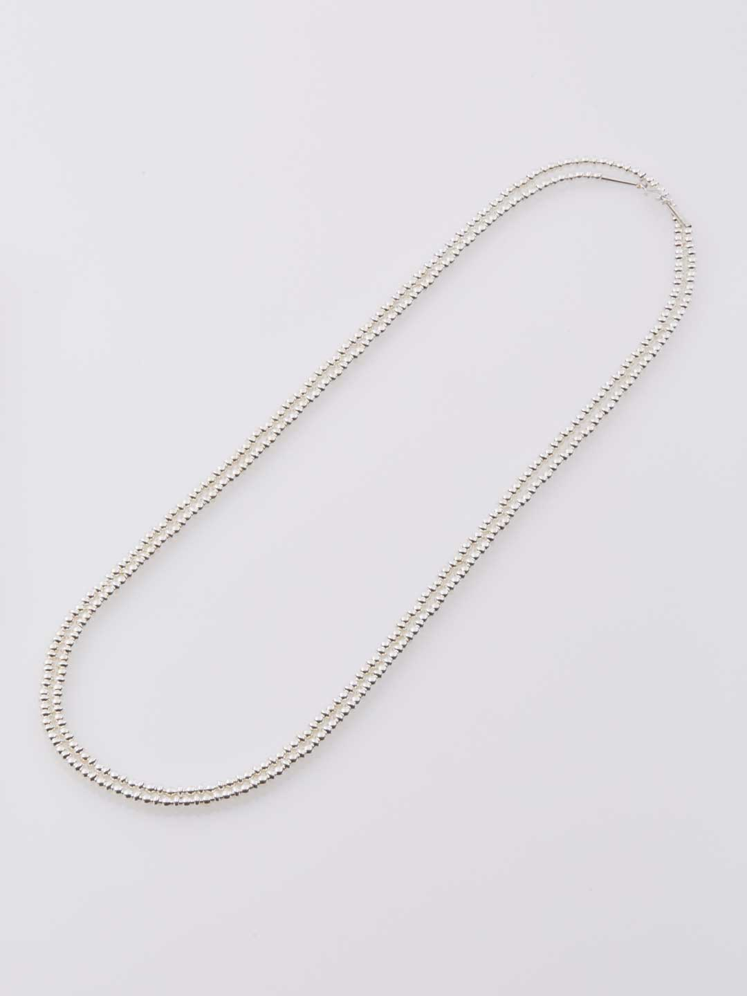 4mm Ball & Disc Chain Necklace 150cm  - Silver