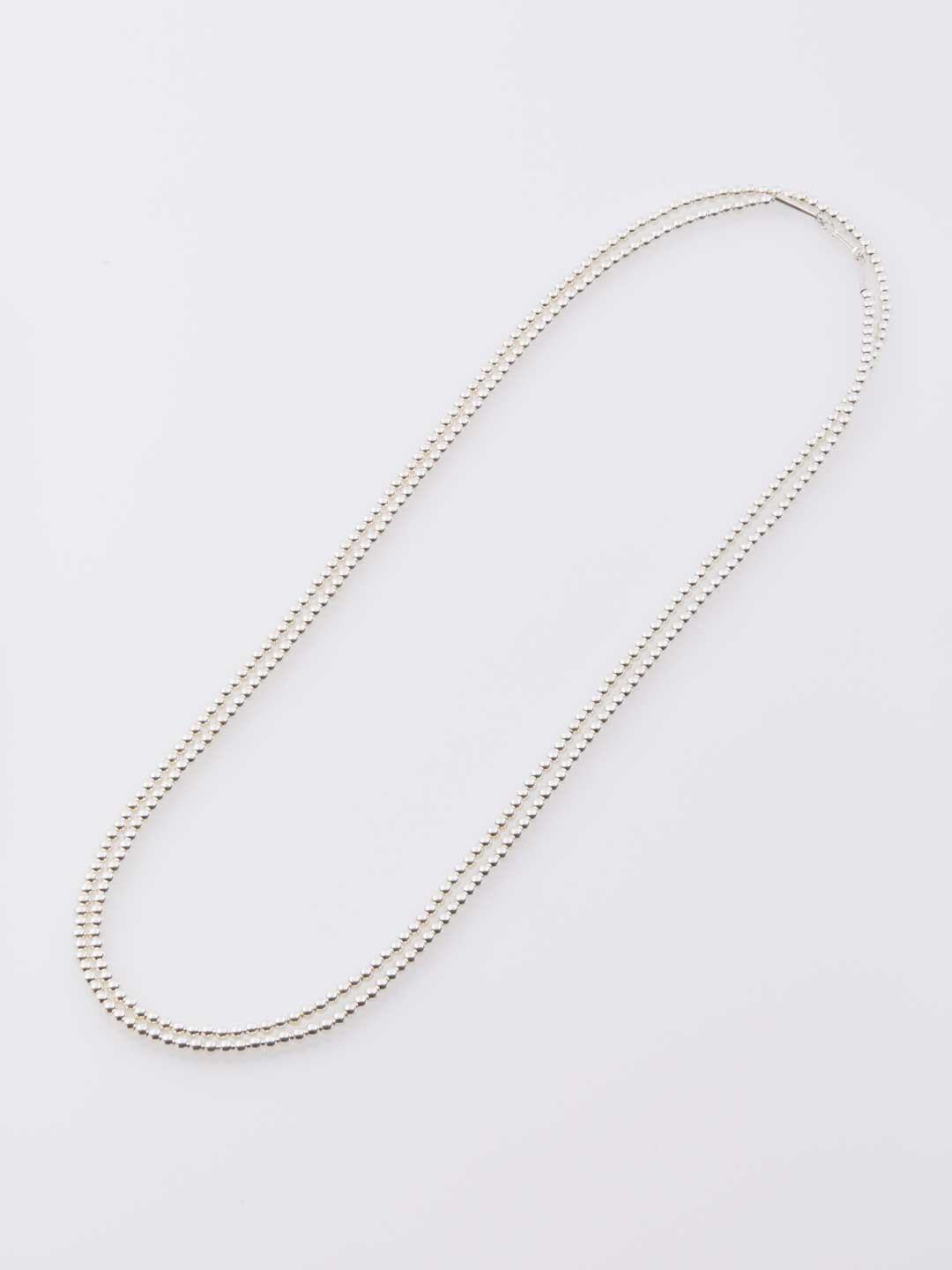 4mm Ball Chain Necklace 150cm  - Silver