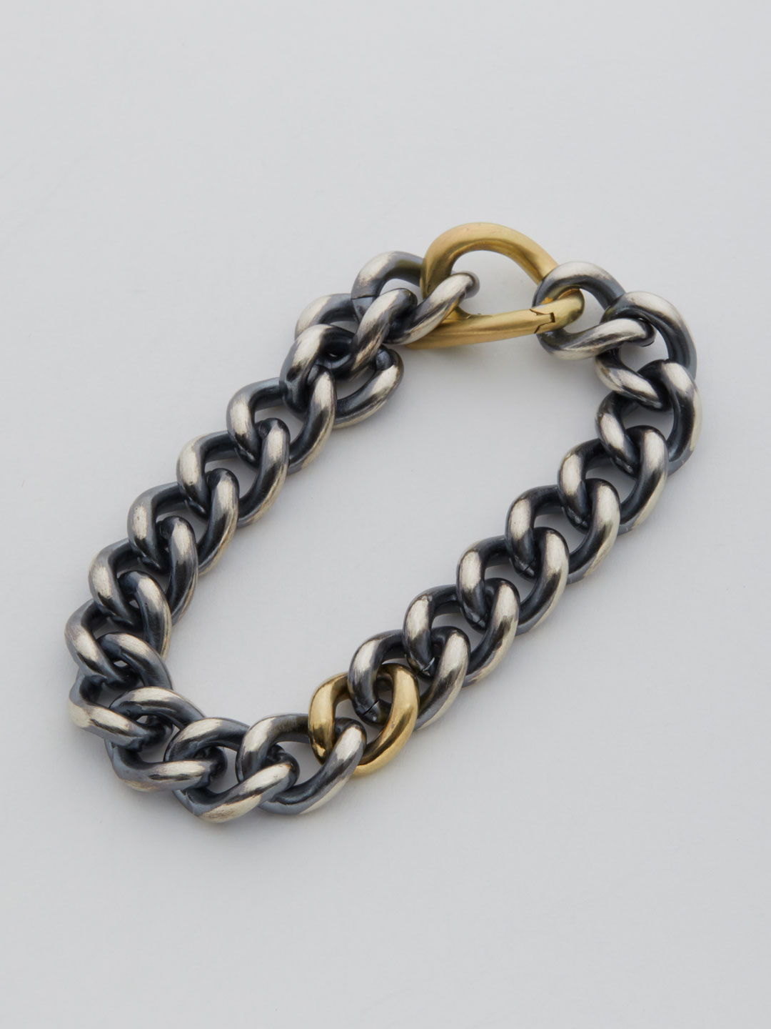 Humete Chain Bracelet 11 Large Clasp / 2S  - Silver