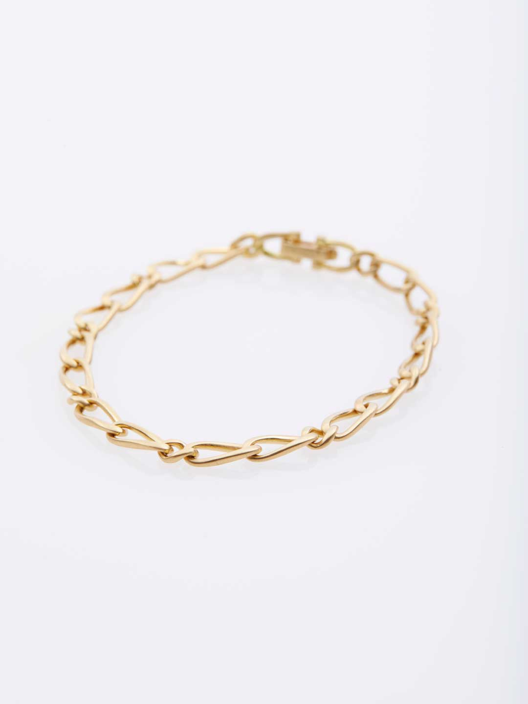 Refine 18K Gold Chain Bracelet / S - Yellow Gold