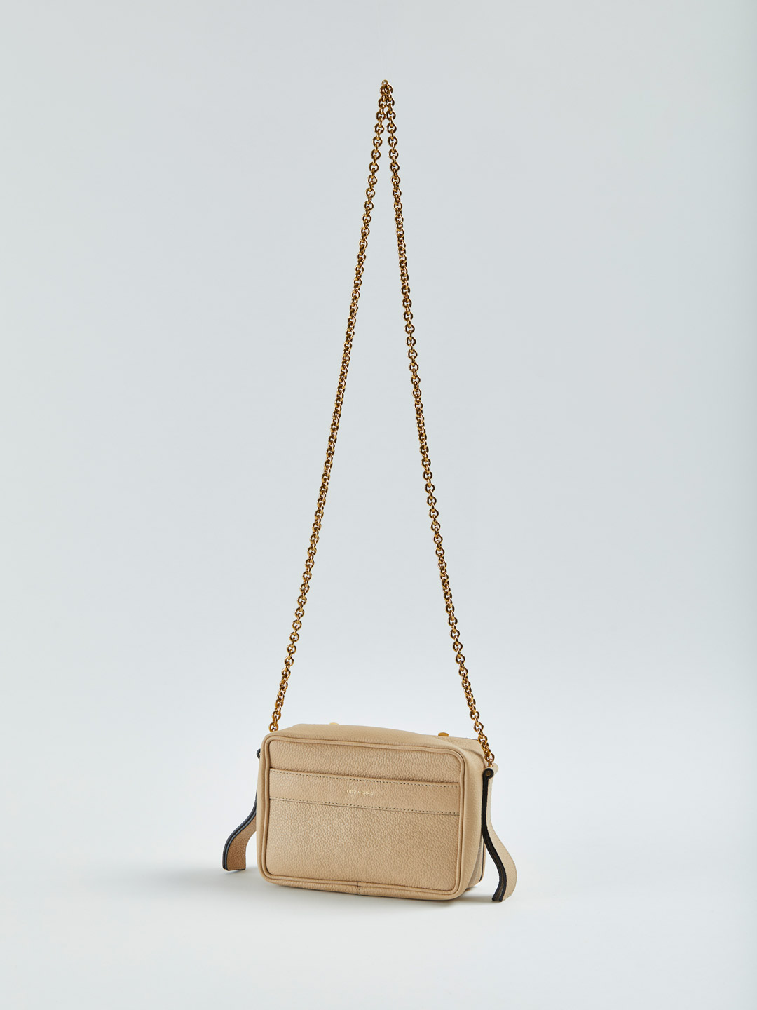 Malloy Medium Cross Body Chain Bag - Beige