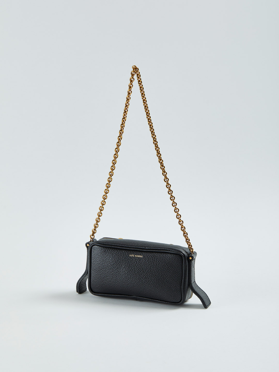 Elise Small Shoulder Chain Bag - Black
