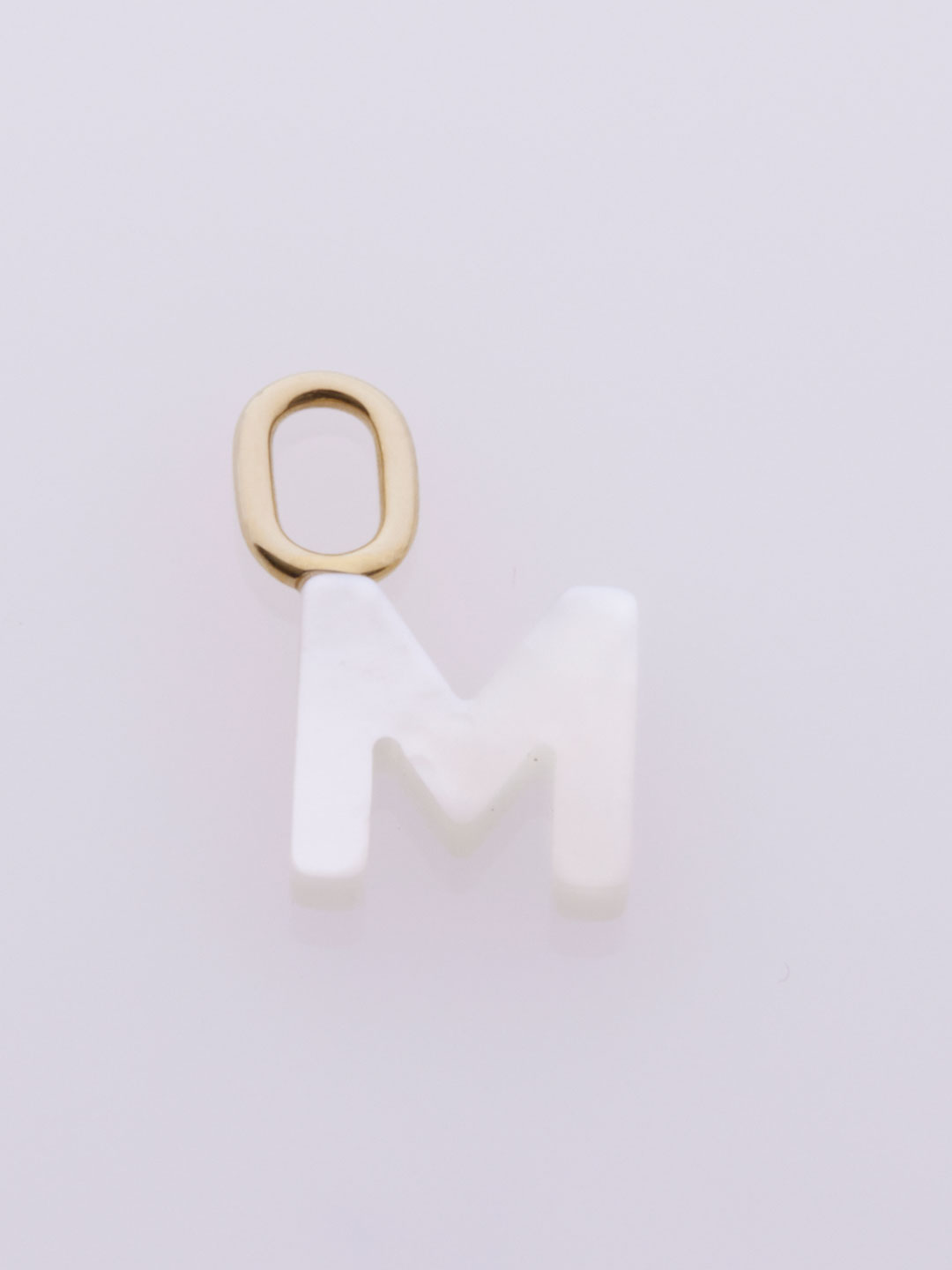 Lucid M Charm  - Yellow Gold