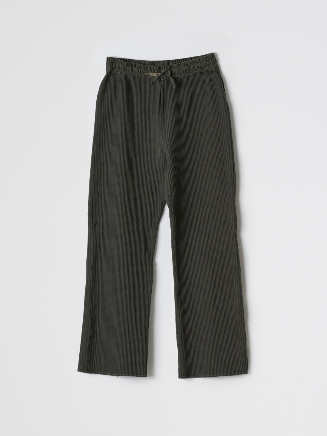 Cotton Woven Rib Pants - Green