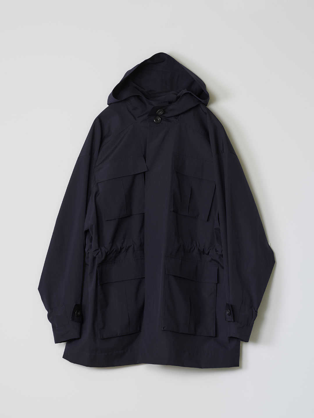No 0209  Wool Silk Utility Coat - Navy