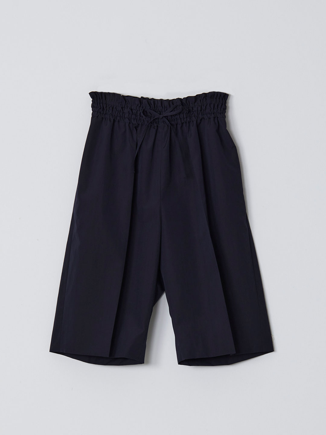 No 0210  Wool Silk Shorts - Navy