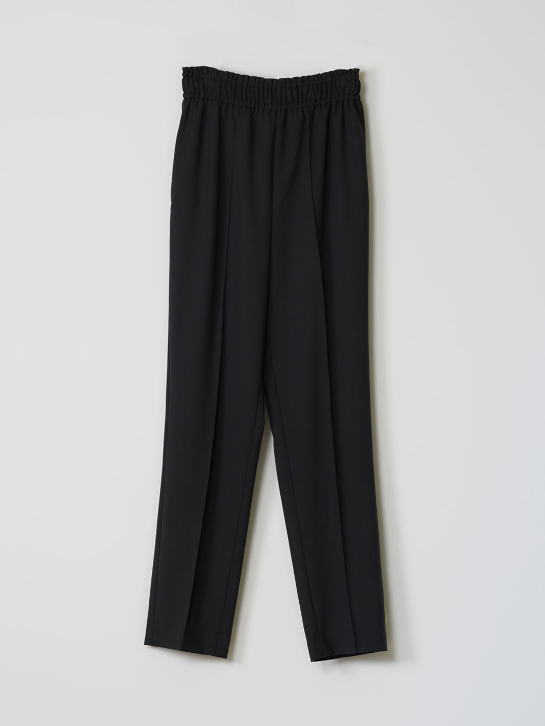 No 0144  Wool Easy Trousers - Black