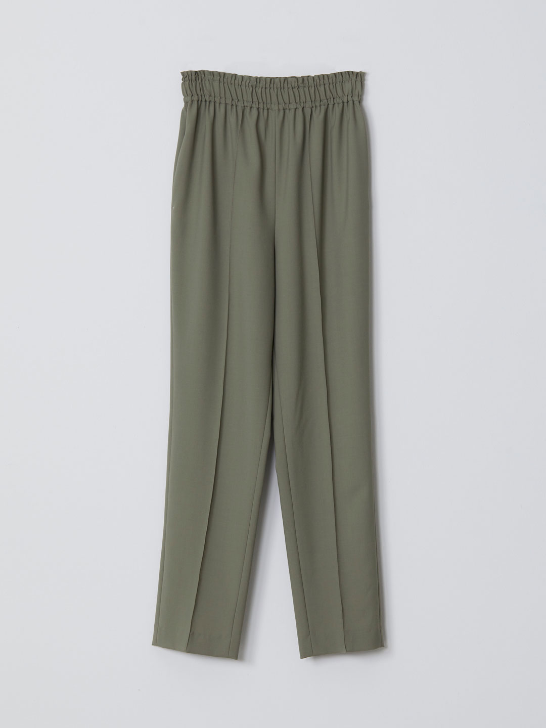 No 0144  Wool Easy Trousers - Sage