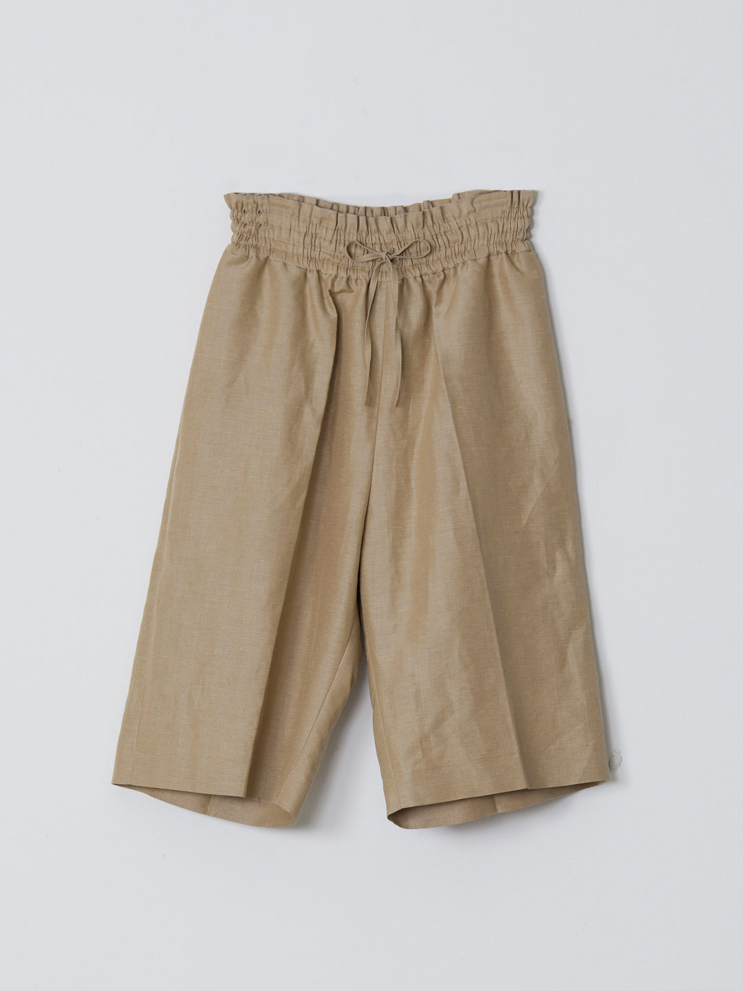 No 0221 Linen Silk Shorts  - Beige