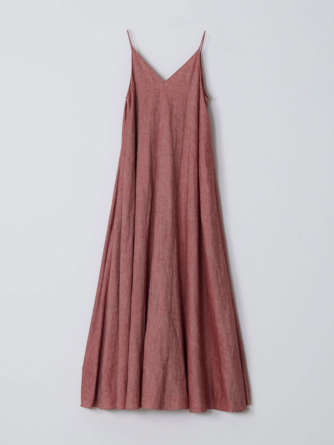 No 0223 Linen Cami Dress - Red