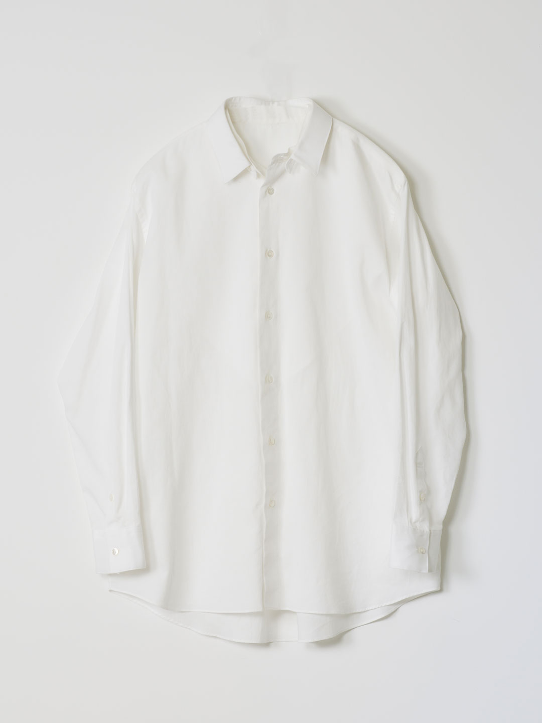 No 0227  Cotton Pique Dress Shirt - White