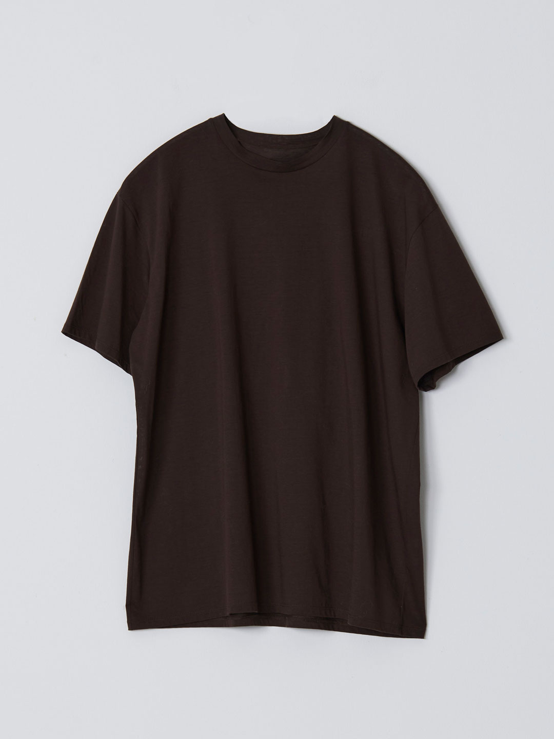 No 0235  High Gauge Cotton Tee - Dark Brown