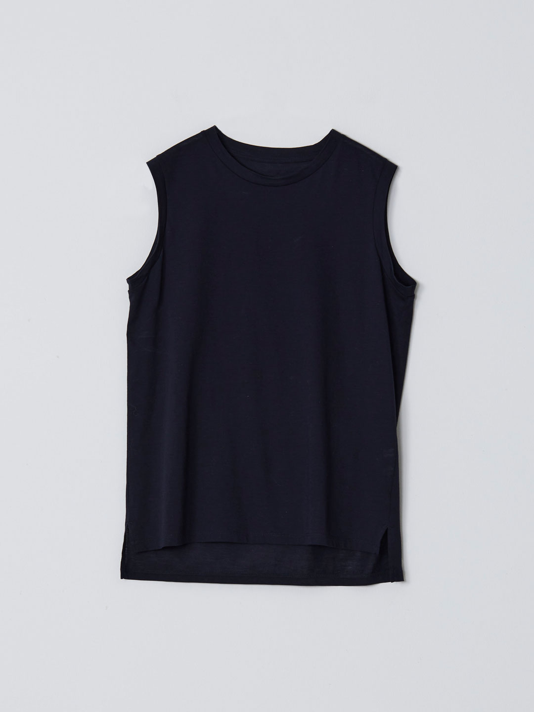 No 0236  High Gauge Cotton Sleeveless Tee - Navy