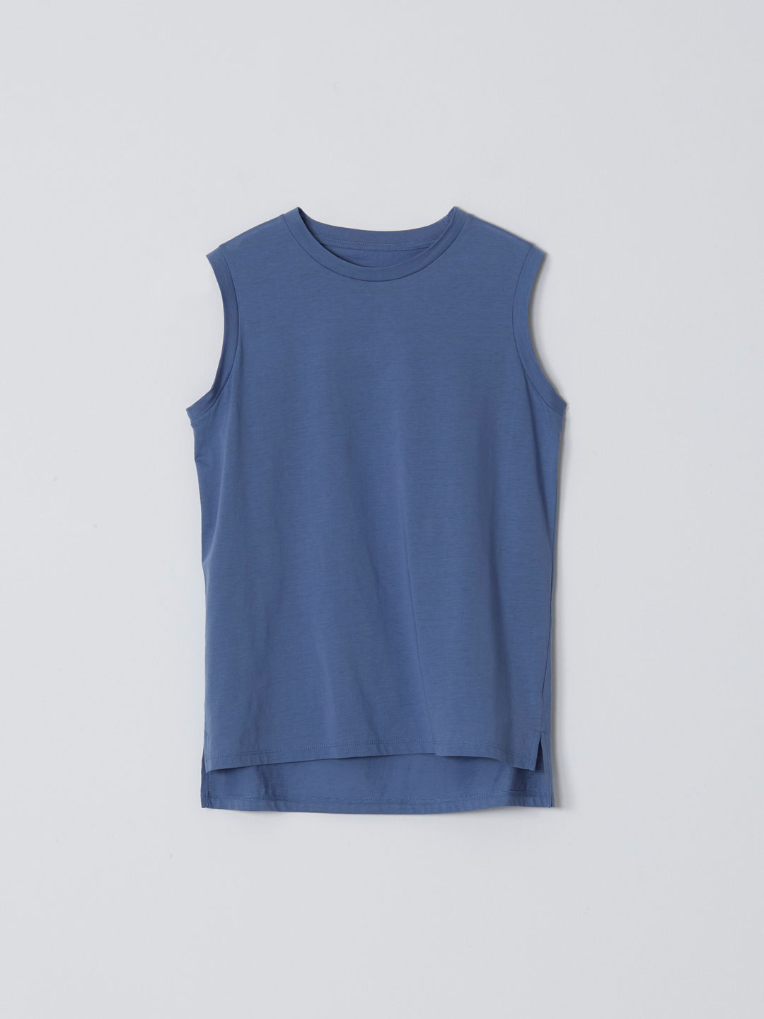 No 0236  High Gauge Cotton Sleeveless Tee - Sax