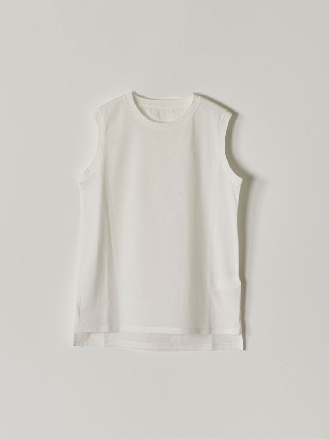 No 0236  High Gauge Cotton Sleeveless Tee - White