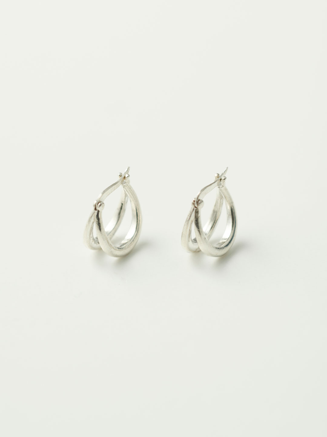 Double Francois Hoops - Silver