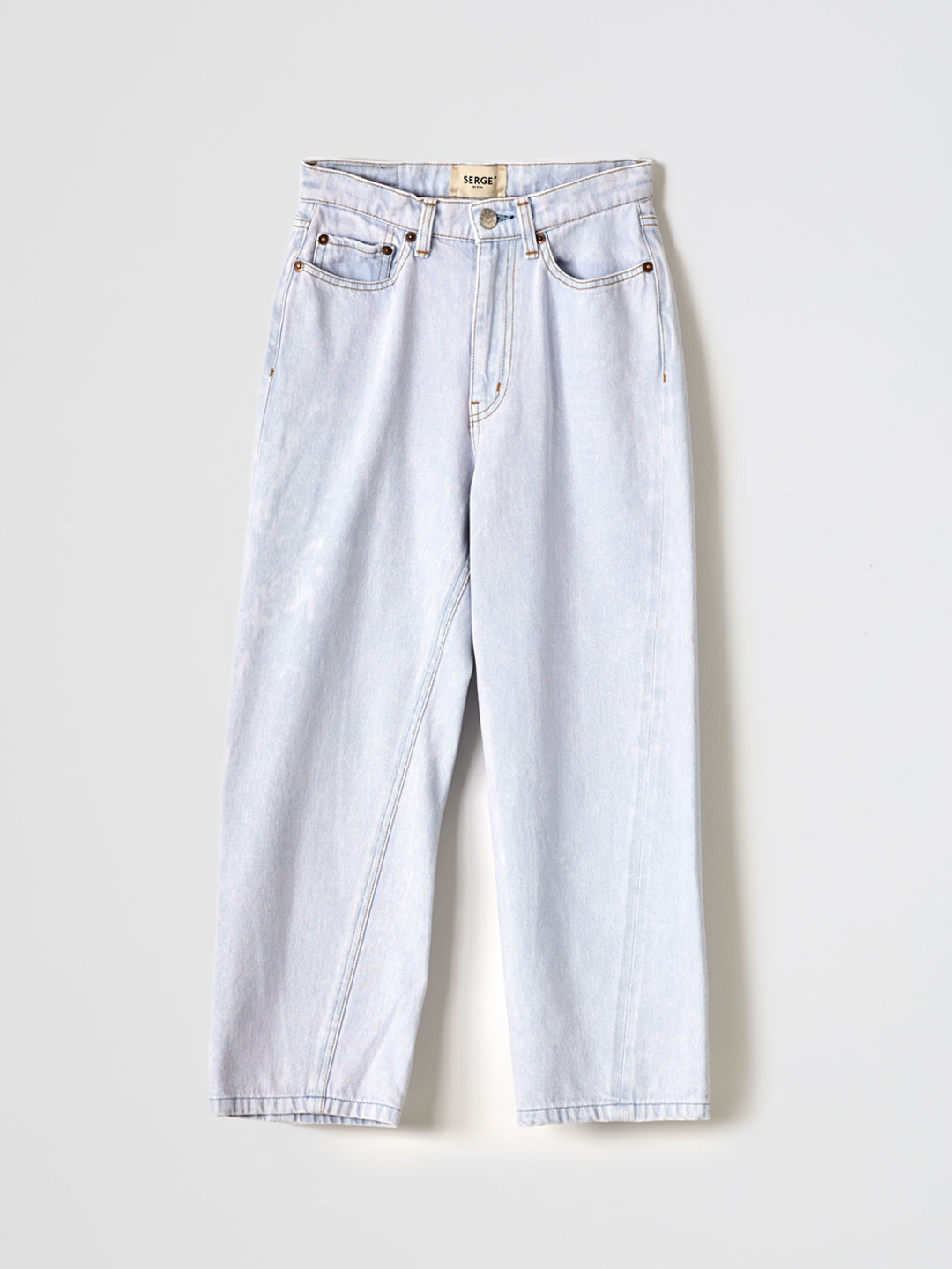 SERGE dodo bleu CROPPED PANTS - Light Blue