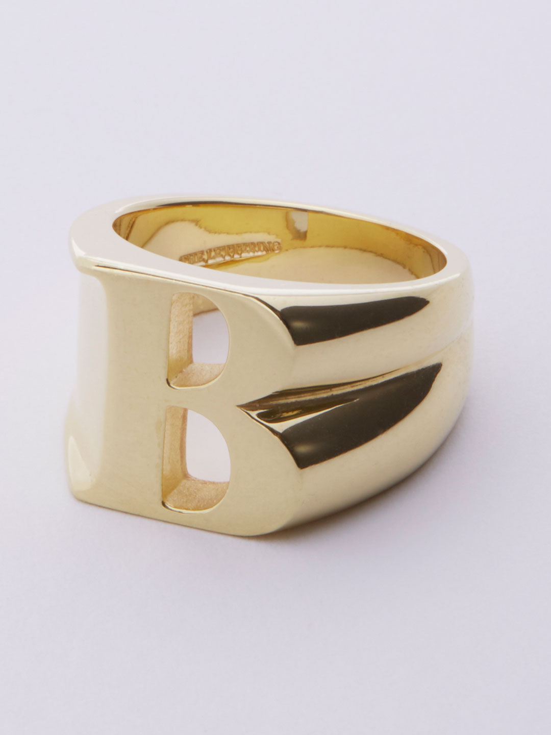 Alphabet Ring B - Gold