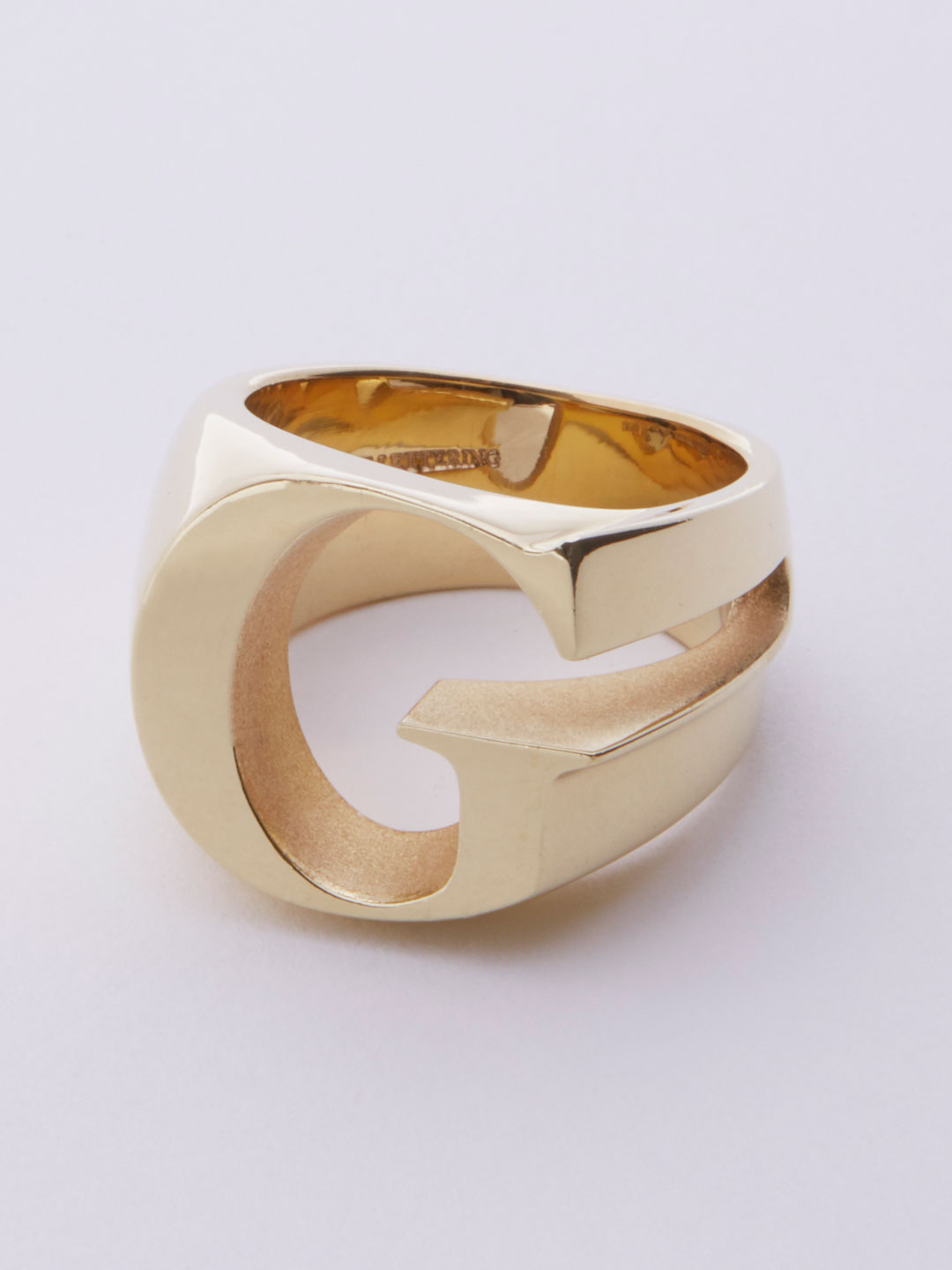 Alphabet Ring G - Gold