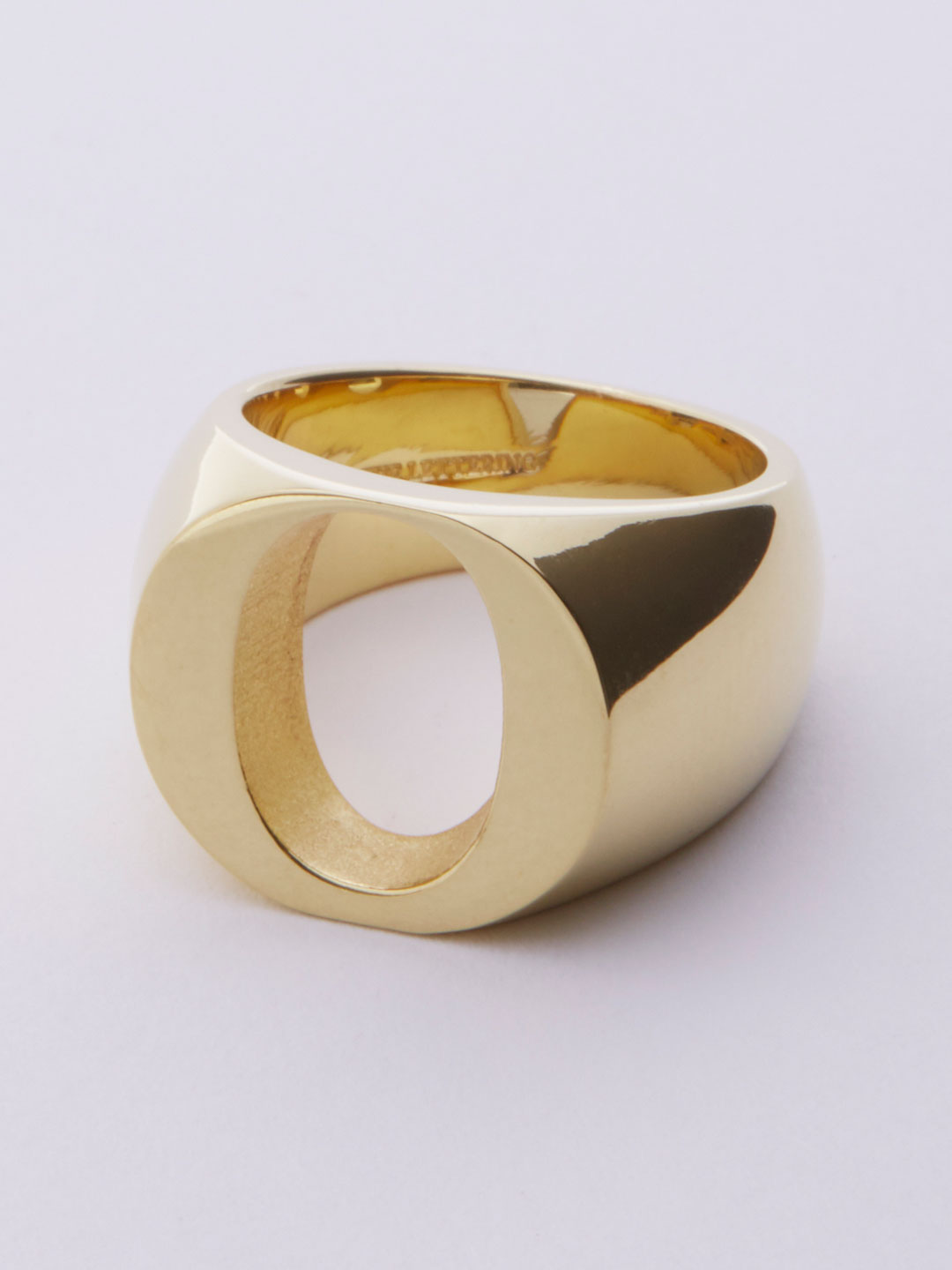 Alphabet Ring O - Gold