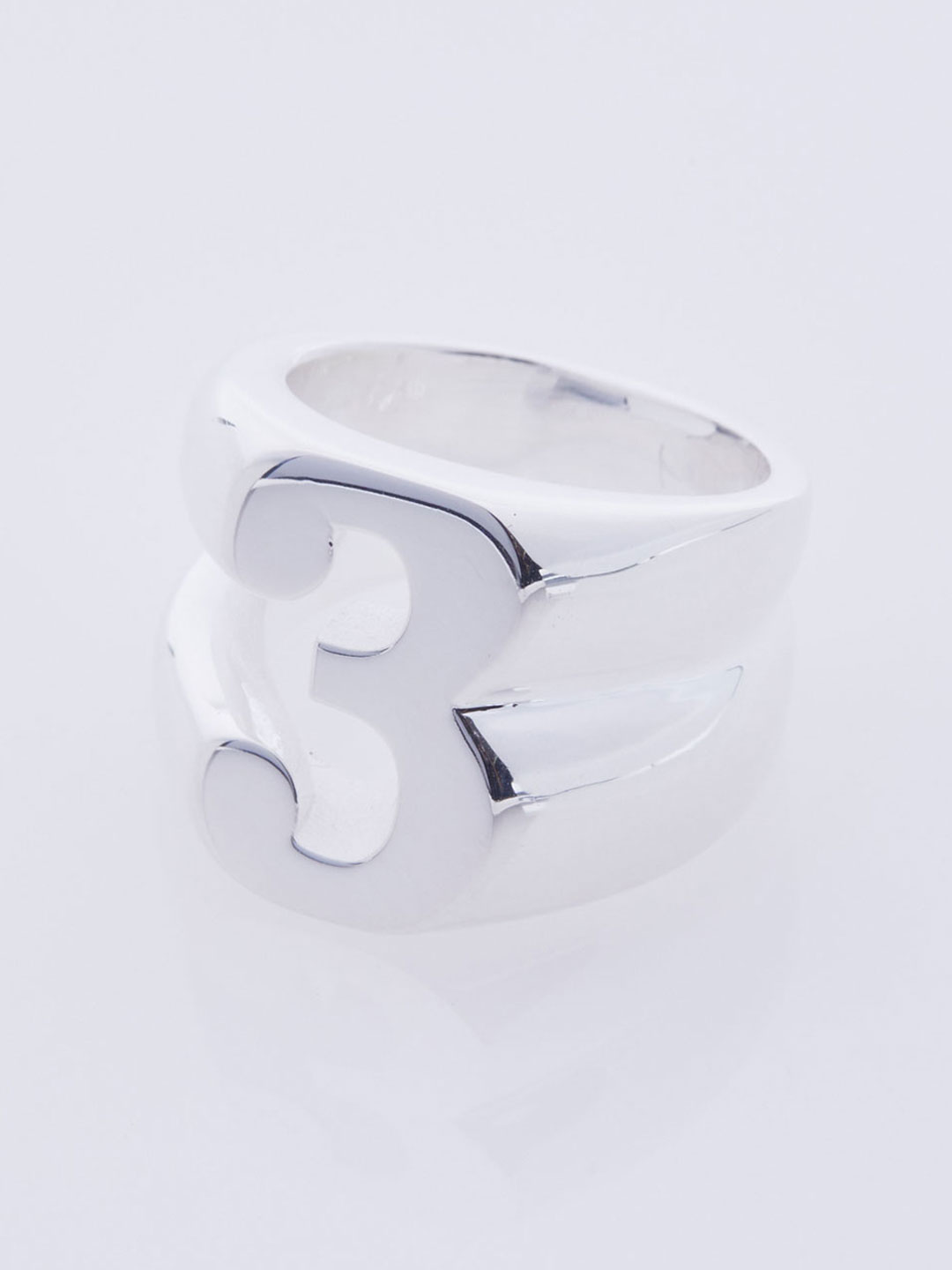 Number Three Ring - Silver